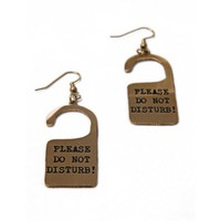 Please Do Not Disturb Earring  by Youreyeslie.com Online store> Shop the collection