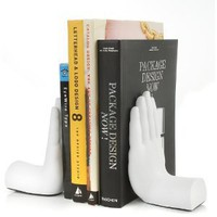 Amazon.com: Tech Tools Desktop Madness Series Stop Hand Bookends (HS-8003): Office Products