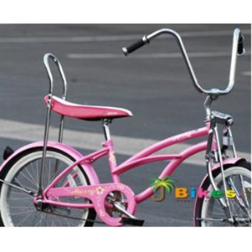 "Micargi Hero 20"" Girls Low Rider Beach Cruiser Bicycle Pink"