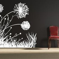 Vinyl Wall Decal Art Dandelion Field 2 by DesignUnited on Etsy