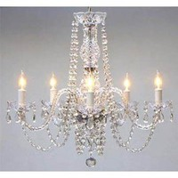 "Amazon.com: New! AUTHENTIC ALL CRYSTAL CHANDELIERS H25"" X W24"": Home Improvement"