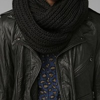 Double Cable-Knit Eternity Scarf-