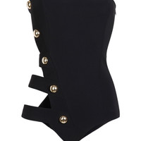 5 Band Bustier Maillot by Anthony Vaccarello - Moda Operandi