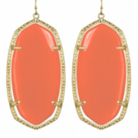 Kendra Scott Danielle Earring in Salmon