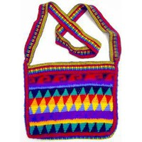 Rasta Rainbow Square Crochet Bag