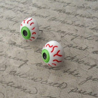 spooky eyeball studs