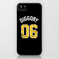 Cedric Diggory - Quidditch Number 06  Hufflepuff (Harry Potter) iPhone & iPod Case by SOULTHROW