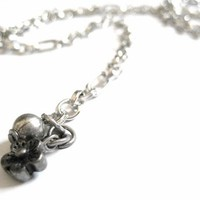 Adjustable Silver Belly Chain Waist Chain with Flower Charm Dangle