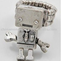 New Silver Clear Crystal Futuristic Robot Ring - Buy Ring,Alloy Ring,Fashion Ring Product on Alibaba.com