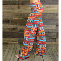 Gong Show Red Boho Tribal Pants