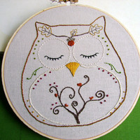 Embroidery Pattern PDF Owl Autumn And Fall Ohli The Owl | Luulla