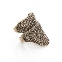 Stacked Helmut Ring Brass Ox Pave | Rings | Shop | Made Her Think ? New York City Jewelry and Accessories