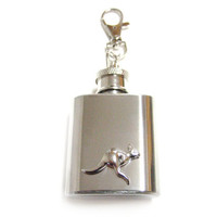 Kangaroo 1 oz. Stainless Steel Key Chain Flask
