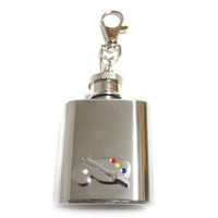 Art Palette 1 oz. Stainless Steel Key Chain Flask