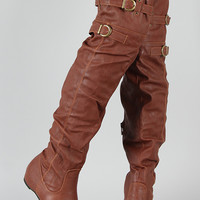 Amar-14 Buckle Thigh High Boot