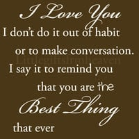 I Love You 8x10 quote