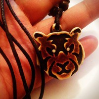 Tiger Tribal Necklace Talisman | christinepurr - Jewelry on ArtFire