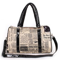 Hot Newspaper Print Shoulder Bag from MustHaveGift