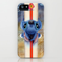 Waiting for the perfect wave...Stitch..^^ iPhone & iPod Case by Emiliano Morciano (Ateyo)