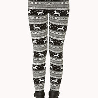 Festive Fair Isle Leggings | FOREVER 21 - 2000074771