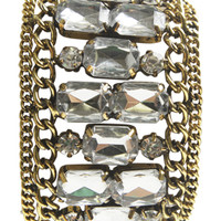 Faceted Stone and Chain Bracelet | Shop English Manor at Arden B