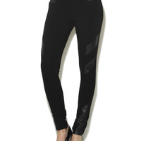 Perforated Vegan Leather Ponte Legging | Shop English Manor at Arden B