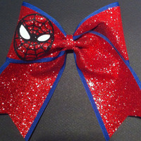 3in. Glitter Spider-Man Superhero Cheer Bow