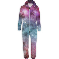 Pastel Nebula Belovesie Hooded Jumpsuit