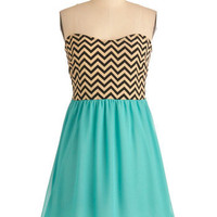 Chevron Top of the World Dress | Mod Retro Vintage Dresses | ModCloth.com