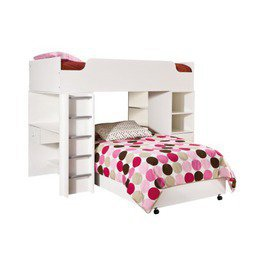 Item: Sand Castle Loft Bed - Pure White (Twin)