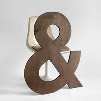 Wood Ampersand Letter - Wall Hanging, Baby Name, Nursery, Wedding, Personalized