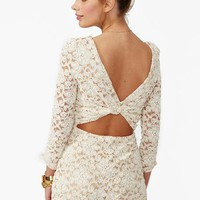 Lace Cutout Romper in  What's New at Nasty Gal