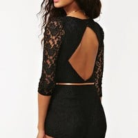 Belted Lace Romper in  What's New at Nasty Gal