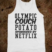 OLYMPIC COUCH POTATO SPONSORED BY NETFLIX TANK TOP TEE T SHIRT TSHIRT