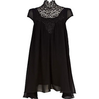 Black Lydia Rose Bright high neck dress