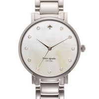 kate spade new york 'gramercy' crystal marker watch, 34mm
