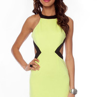 Turn Your Back on Me Dress in Lime :: tobi