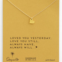 Dogeared 'Sparkle Heart' Boxed Pendant Necklace