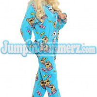 Josie Stevens Pajamas Footie PJs Onesuits One Piece Adult Pajamas