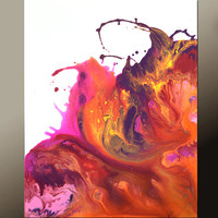 Abstract Art Canvas Painting 18x24 Contemporary Paintings by Destiny Womack - dWo - When the Sun Sets