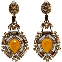 Lanvin Crystal Babylon Clip Earrings at Barneys.com