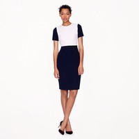 Seamed crepe dress in colorblock - wear-to-work - Women's dresses - J.Crew