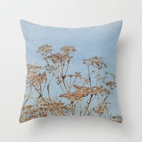 Hogweed - Almost Autumn - JUSTART © Throw Pillow by JUSTART
