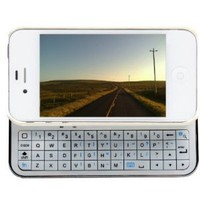 Amazon.com: iMounTek Apple iPhone 4 Sliding Bluetooth Hardshell Keyboard Case(white): Cell Phones &amp; Accessories