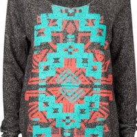 Amazon.com: FULL TILT Navajo Screen Womens Sweatshirt: Clothing