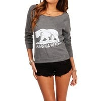 Charcoal 'California Republic' Sweatshirt