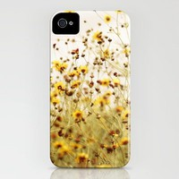yellow flower field iPhone Case by Beverly LeFevre | Society6