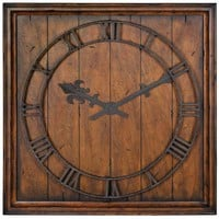 Garrison Rustic Wall Clock - Clocks -  Home Accents -  Home Decor  | HomeDecorators.com