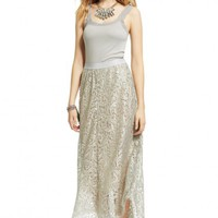 Thora Foil Printed Lace Skirt  | Calypso St. Barth