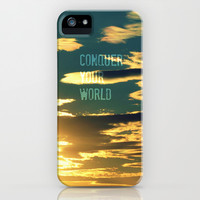 Conquer Your World iPhone & iPod Case by RDelean